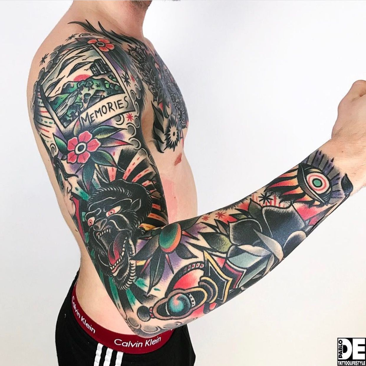 Traditional Tattoo Sleeves: Pin By Eric Burden On Tattoos