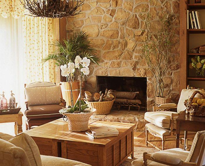 Steinwand Wohnzimmer \u2013 43 Beispiele, wie Steine auf das Ambiente - wohnzimmer design steinwand