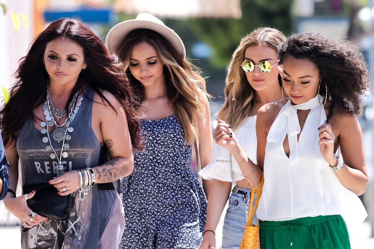 Little Mix getting frozen yoghurt in LA, 4th August.