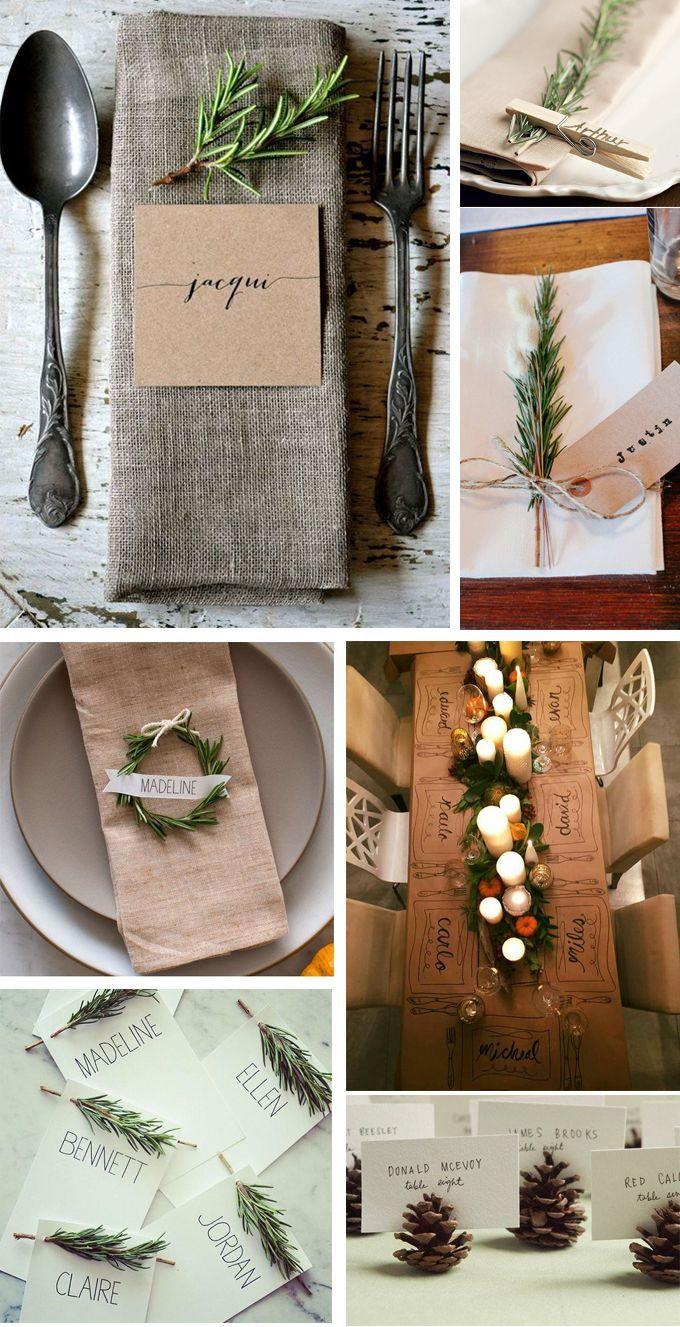 Ideas y un imprimible para saber dónde me siento en la mesa de Navidad