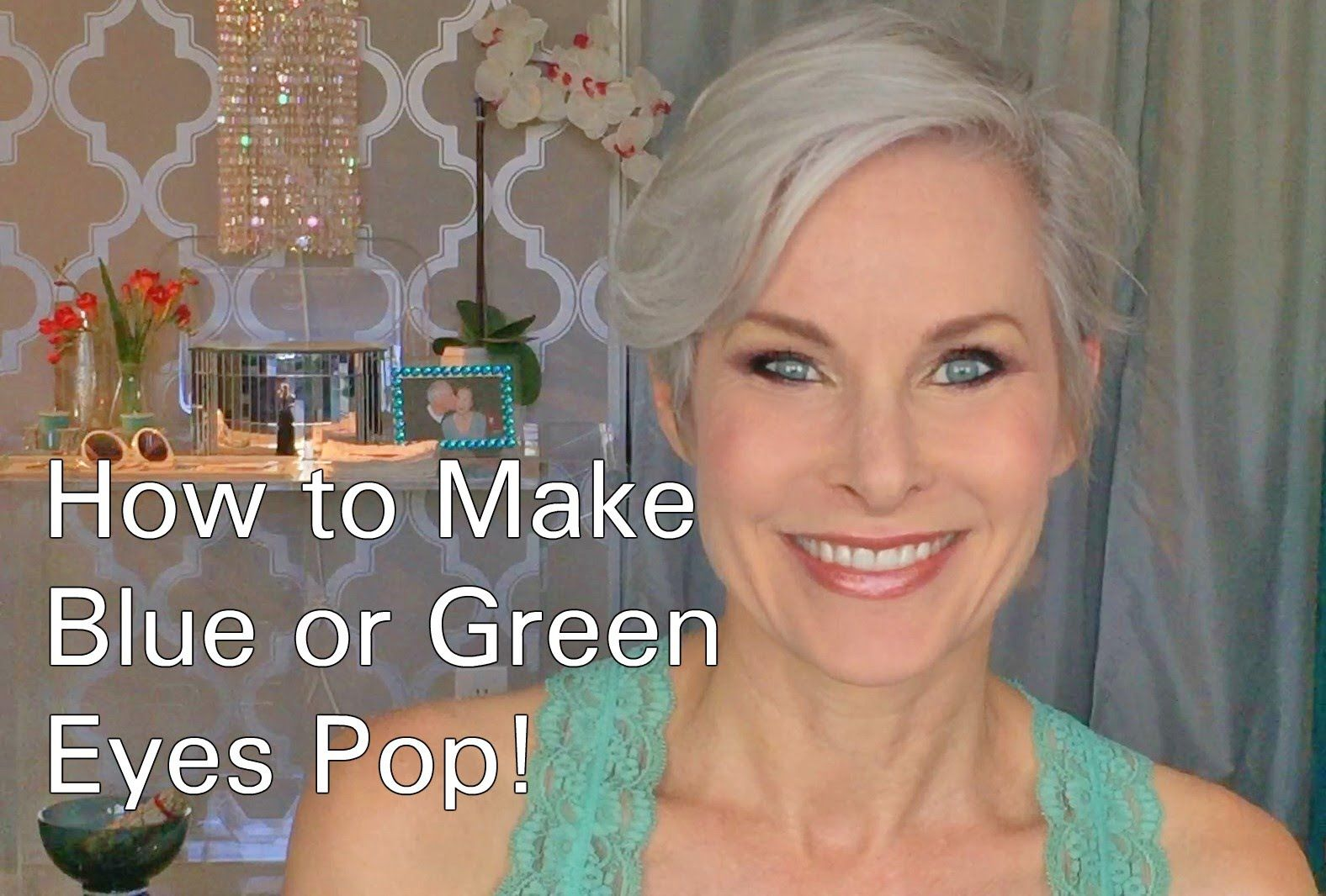 how to do eye makeup to make blue or green eyes pop! | green