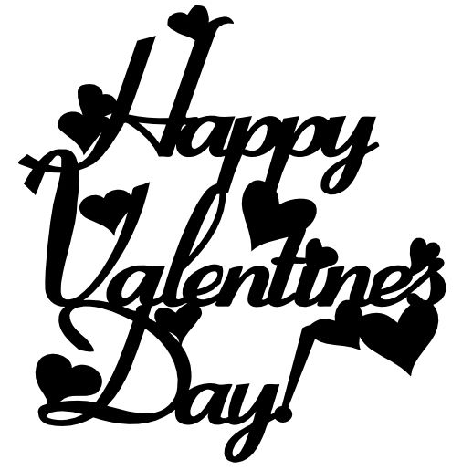 Free Svg Happy Valentines Day Black And White Decoration