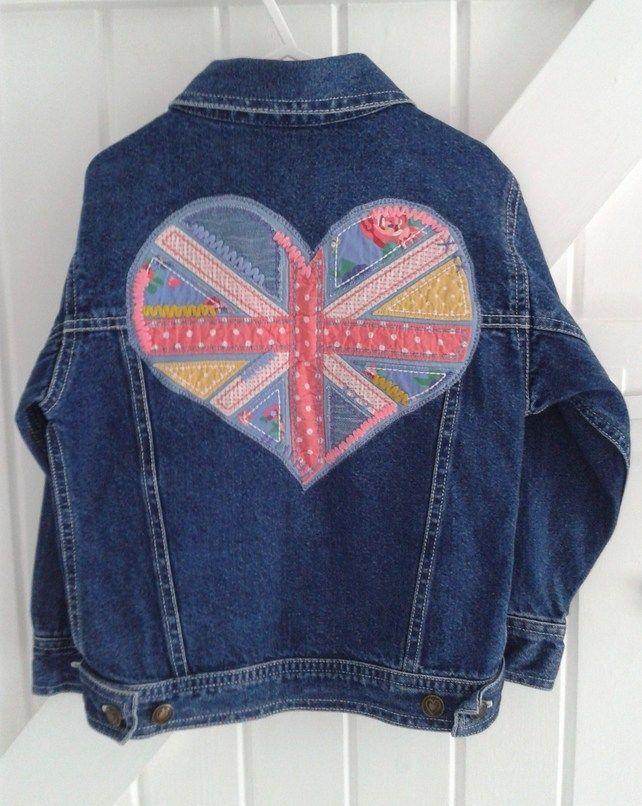 DENIM. Embellished ..BABY BLUES '   'HIPPY HEART'  girls Jacket. £25.00