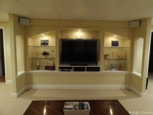 Custom Built In Shelves/entertainment Center In Finished