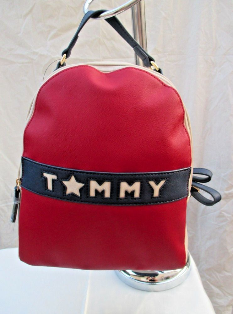 c93860d04b NEW Tommy Hilfiger Red Mini Small Classic Backpack with Straps Bag NWT USA  Blue  TommyHilfiger  Backpack