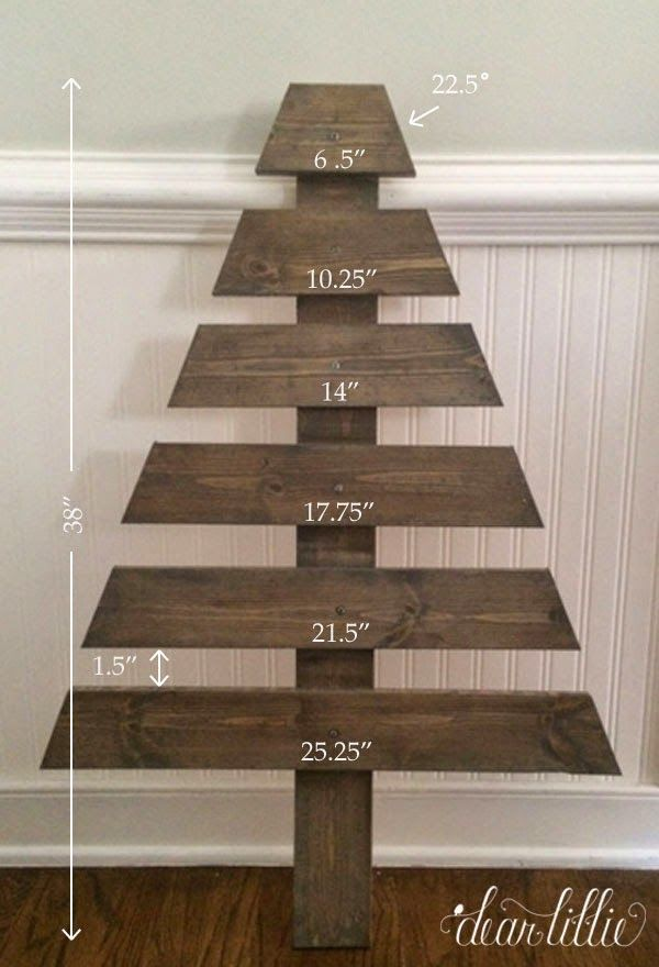 The girls and I thought it would be fun to make an advent calendar this year. We were looking through a Pottery Barn Kid's catalog and saw this wooden tree one that we all loved but it was a little pr