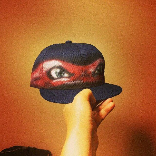 ninja turtles custom hat full cap graffiti initials baseball teenage mutant caps turtle