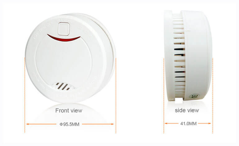 Smoke Alarm With 10 Year Battery Life Vds En14604 And Ce Certified Smoke Detector With Intelligent Fire Photoelectric Sensor Smoke Alarms Cool Things To Buy