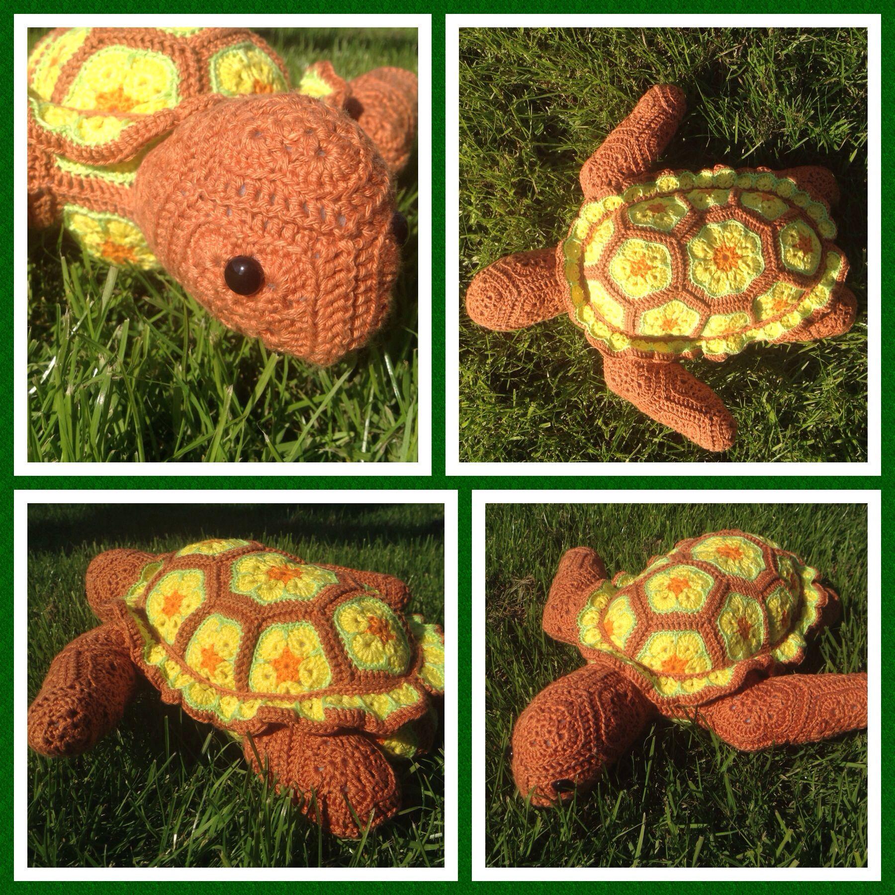 Atuin the African Flower Turtle | Zelf gehaakte projecten, hand-made ...