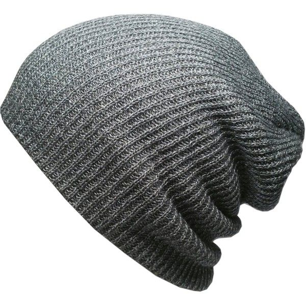 087d14a8578 Amazon.com  KBETHOS W-10 Heather Slouchy Beanie Skull Cap Hat - LIGHT...  ( 9.99) ❤ liked on Polyvore featuring accessories