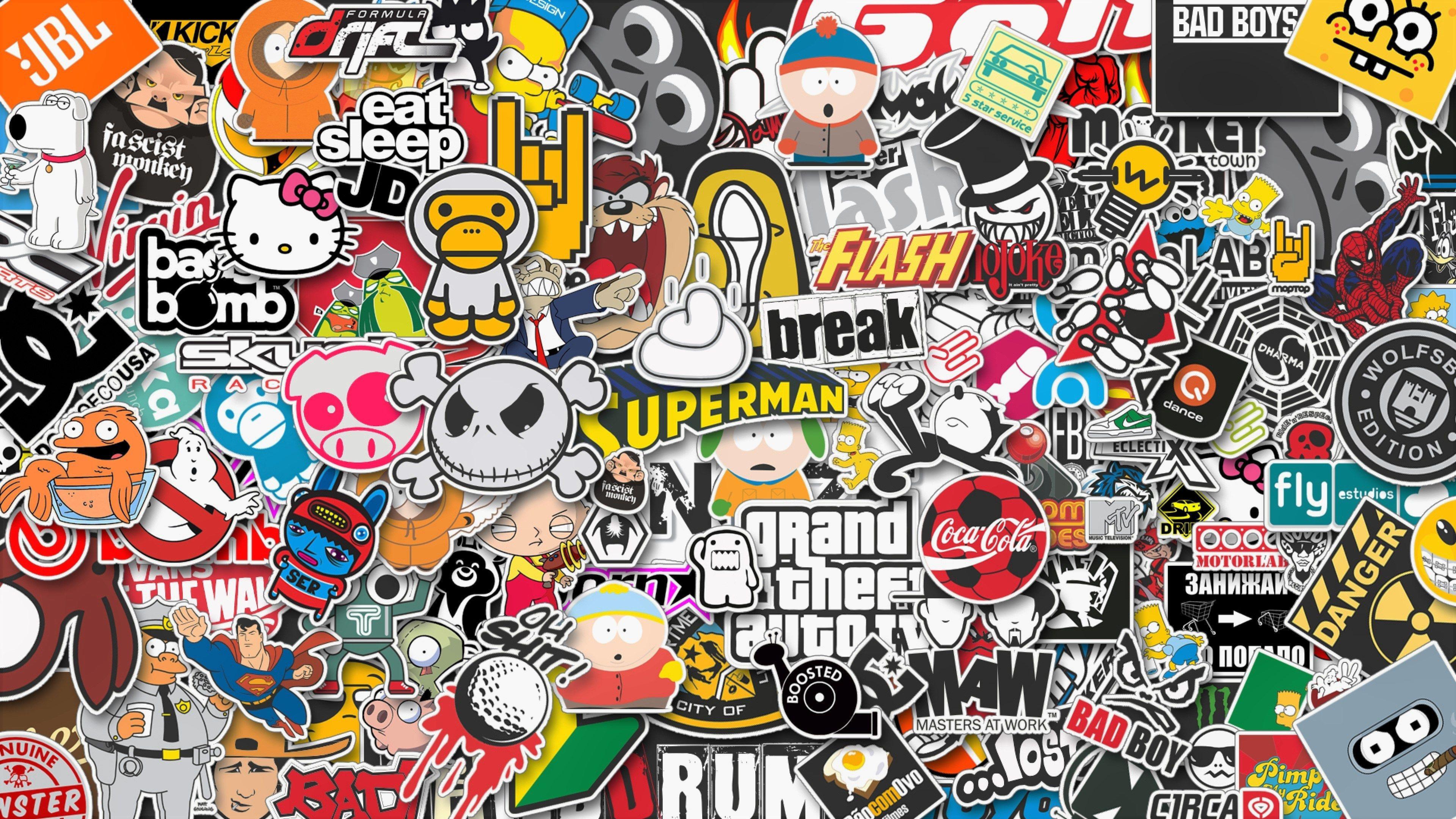 stickers style hd background ololoshenka sticker bomb wallpaper