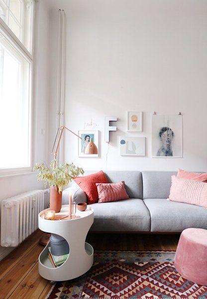 Natürlich sommerlich! Die schönsten Wohnideen aus dem Juli Interiors - wohnzimmer deko rosa