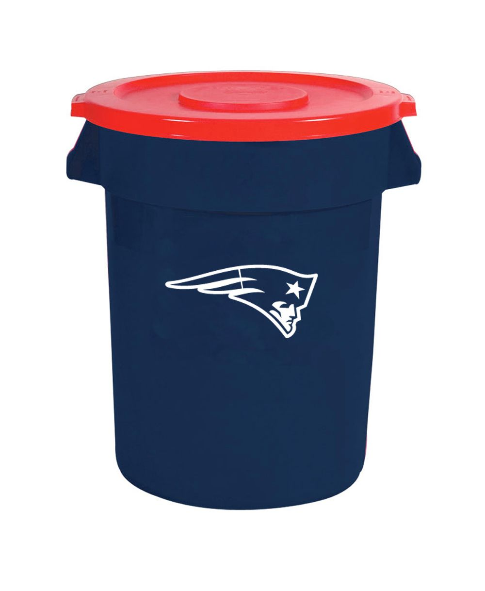 New England Patriots Tailgating Large 32 Gallon Plastic Trash Can ... ffe33ca02a3c