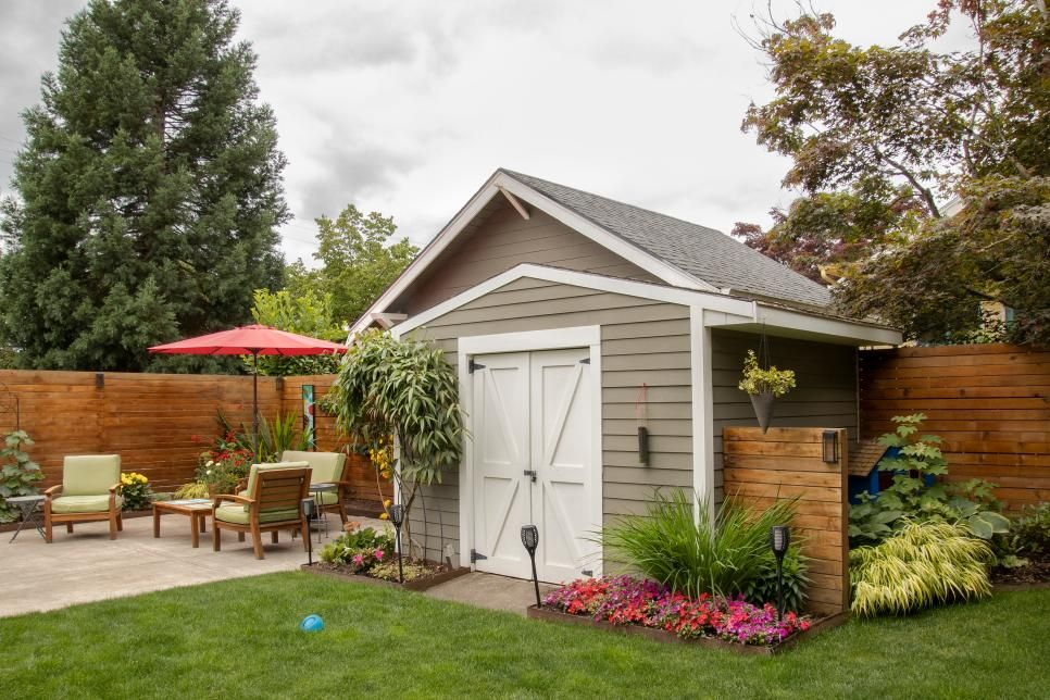 20 Great Garden Sheds And Potting Benches Hgtv In 2020 Backyard Garden Shed Shed