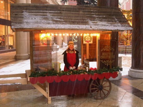 Add a roasted chestnut stall for that market feel indoors and some tasty treats to boot!
