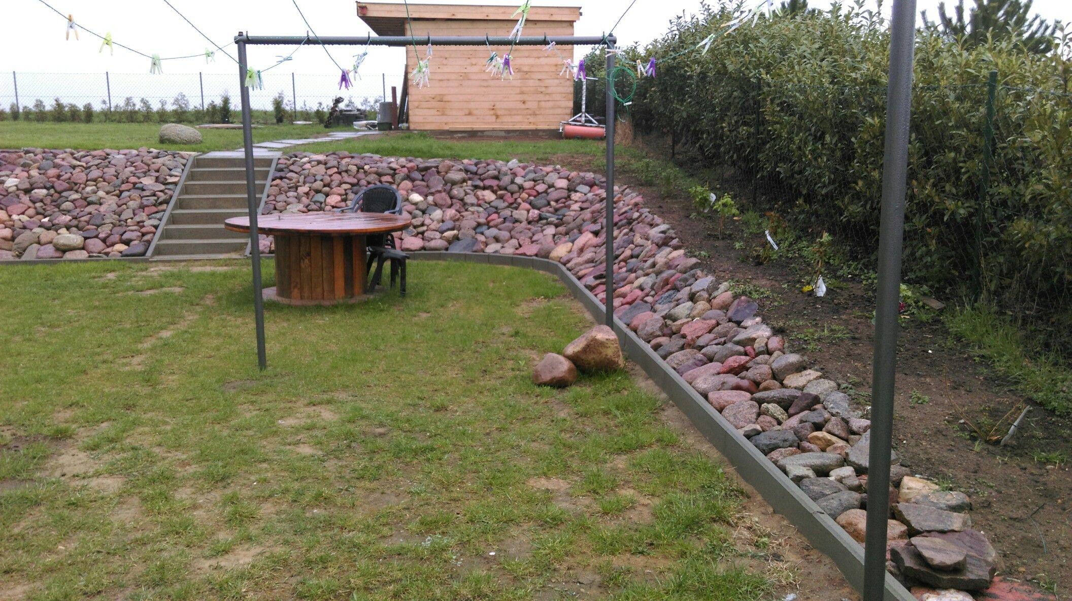 Hang Befestigen Mit Feldsteine Außenanlage Garden