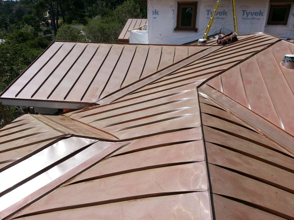 Fully Seamed Copper Standing Seam Roof Standing Seam Roof Copper Roof Standing Seam