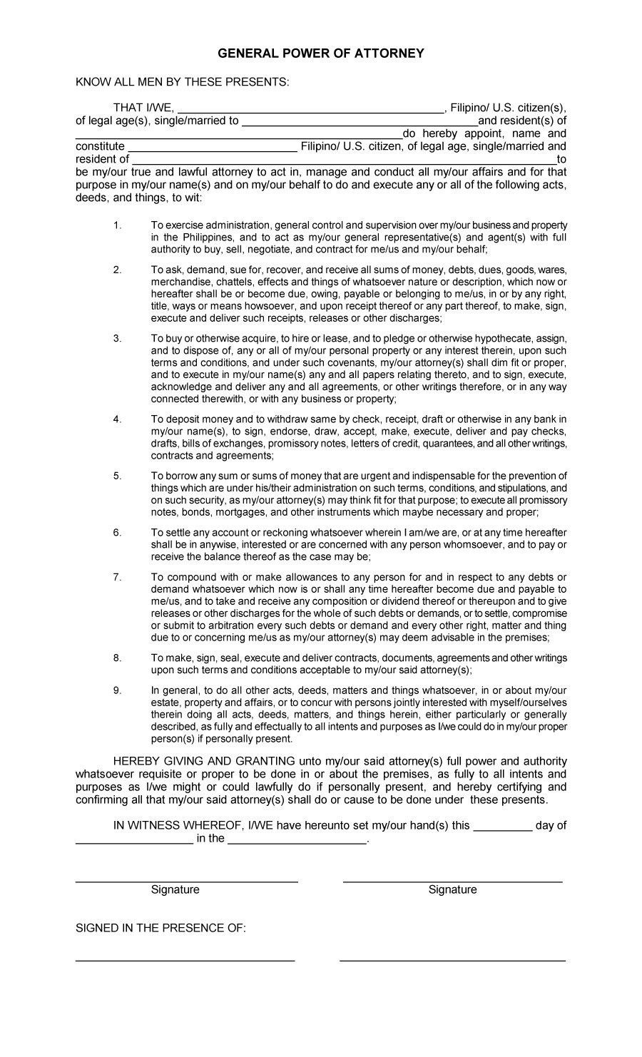 Power Of Attorney Sample Letter Power Of Attorney Form Power Of Attorney Lettering