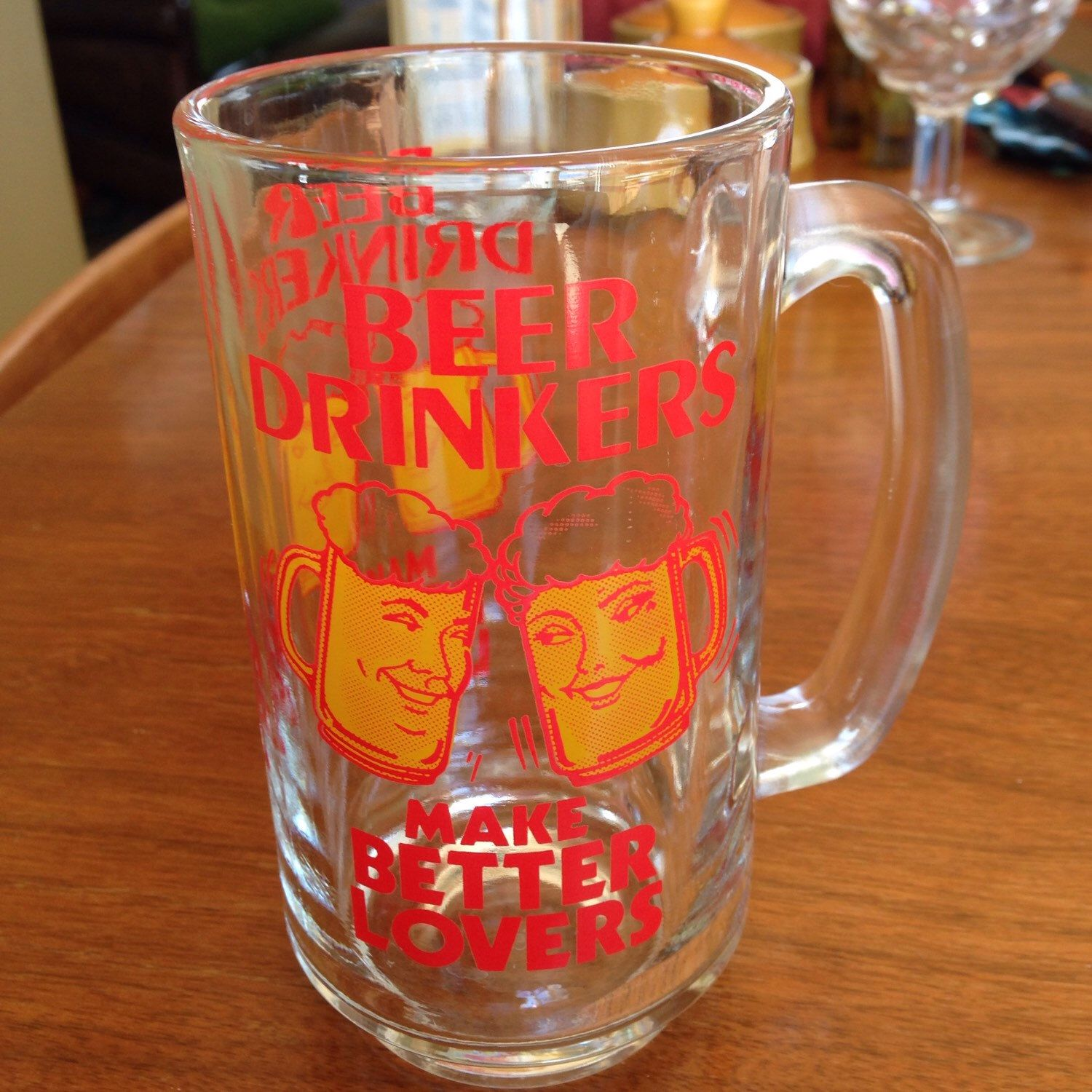 A personal favorite from my Etsy shop https://www.etsy.com/listing/225826540/vintage-novelty-beer-glass-cup-stein-mug