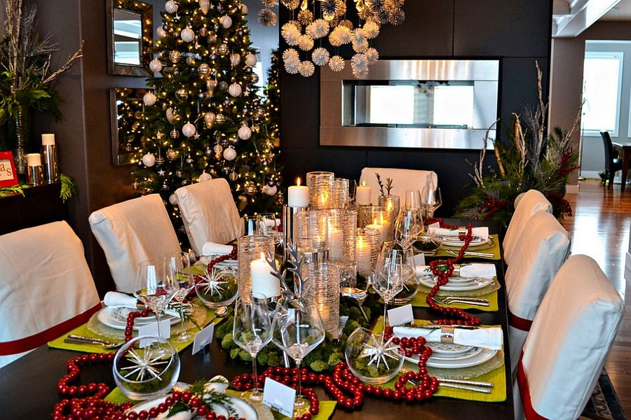 21 Christmas Dining Room Decorating Ideas With Festive Flair Christmas Dining Table Christmas Dining Table Decor Christmas Dining Decor