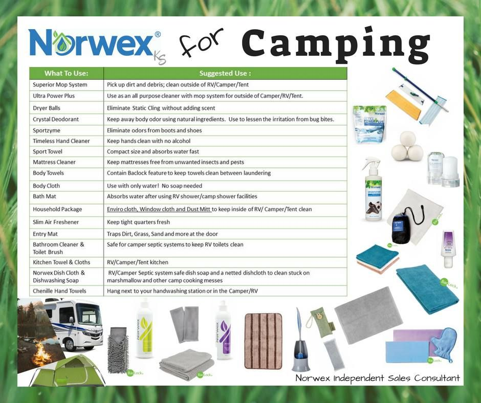 Norwex makes camping so much easier! #norwex #water