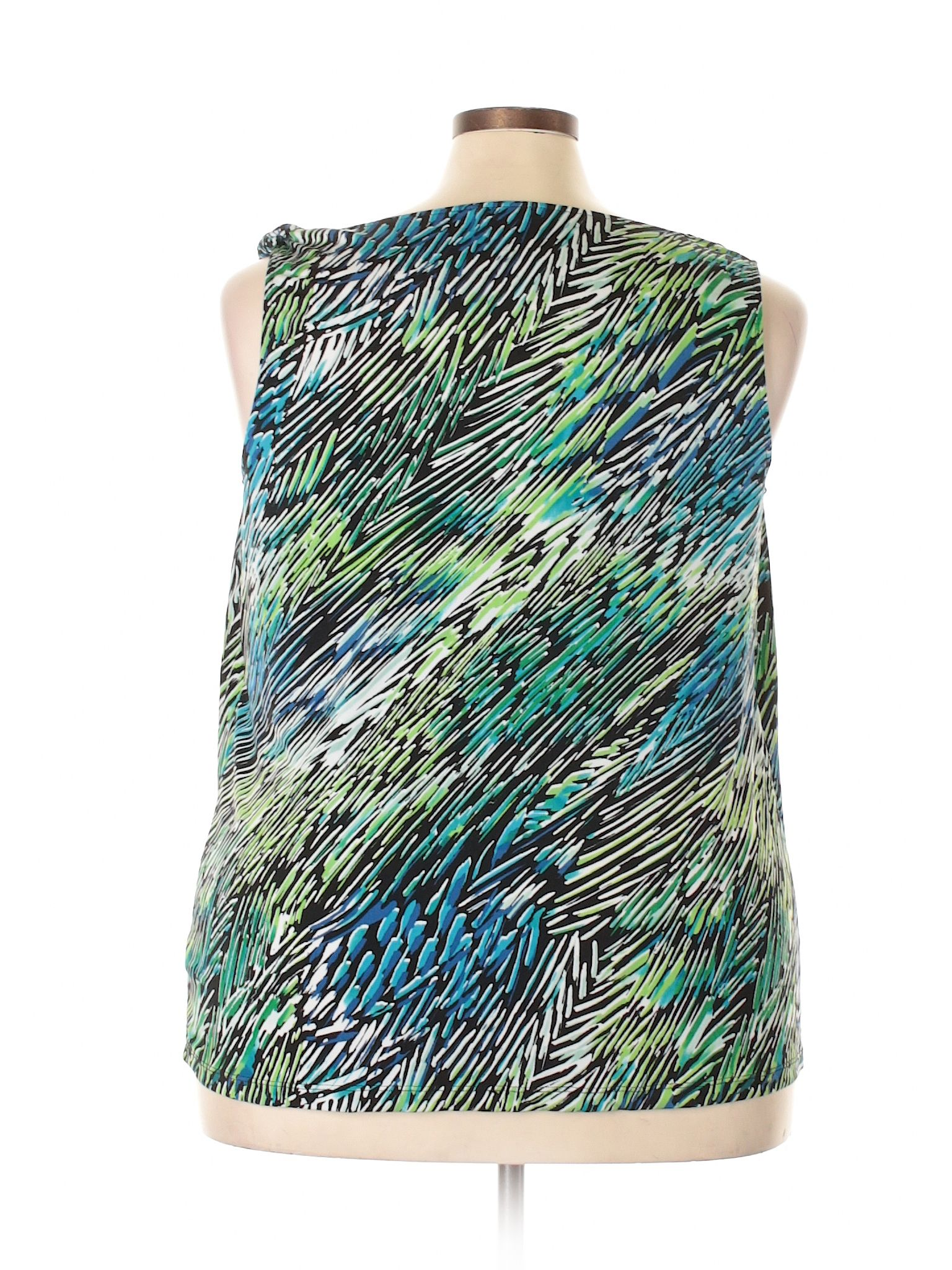 George Sleeveless Top Size 2000 Green Womens Tops  $699