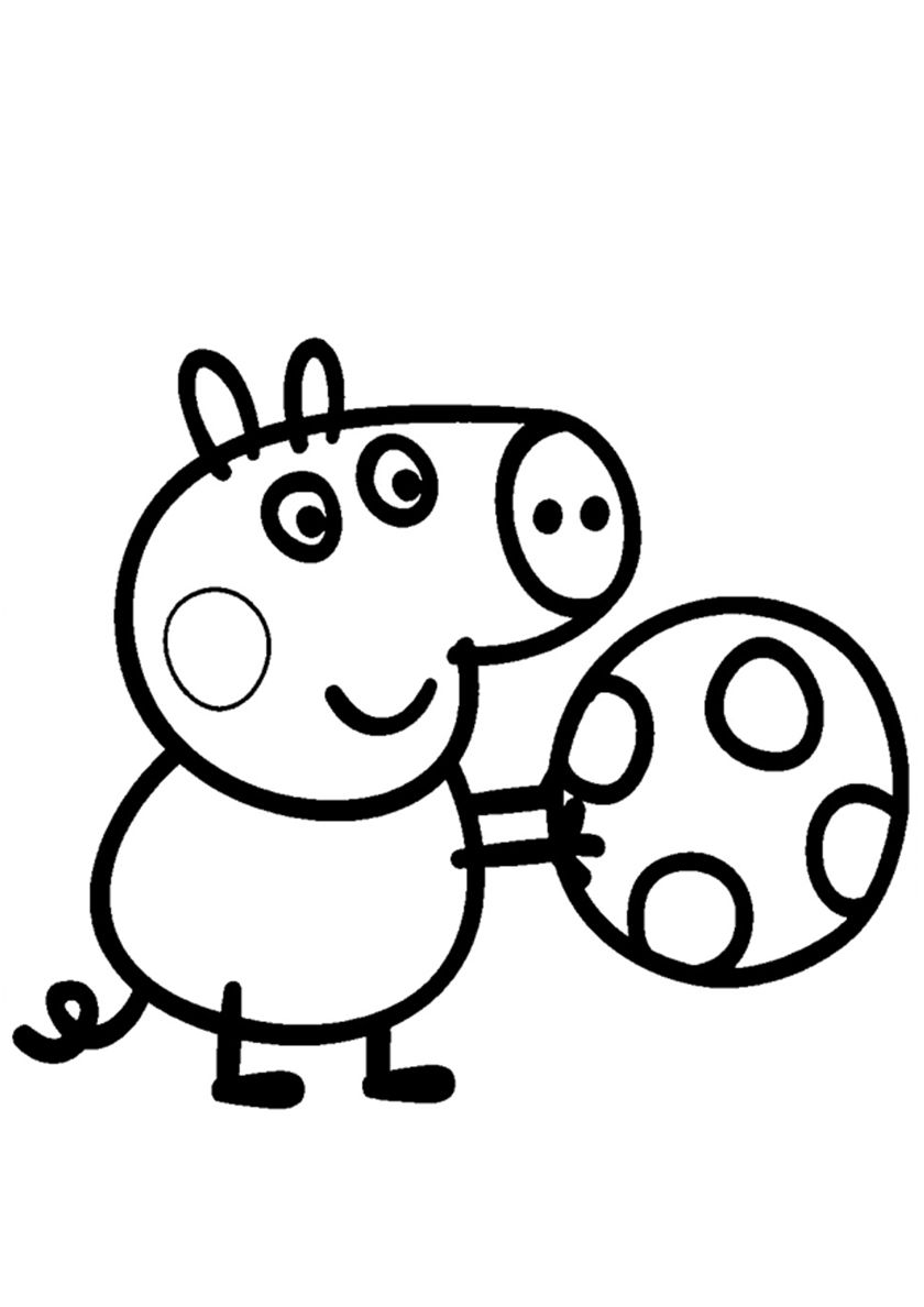 George Plays The Ball High Quality Free Coloring From The Category Peppa Pig More Printable Peppa Pig Coloring Pages Peppa Pig Colouring Peppa Pig Drawing