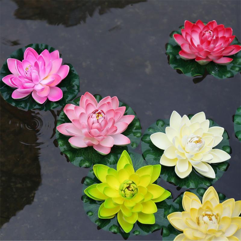 1pcs 17cm decor garden artificial fake lotus flower foam lotus 1pcs 17cm decor garden artificial fake lotus flower foam lotus flowers water lily floating pool plants mightylinksfo