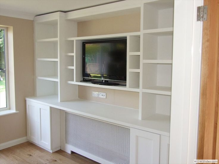 Glazed Alcove Units With Toughened Glass Shelves Above Units With