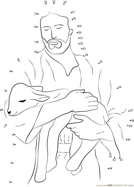 graphic regarding Printable Picture of Jesus titled Obtain or print Jesus dot towards dot printable worksheet versus