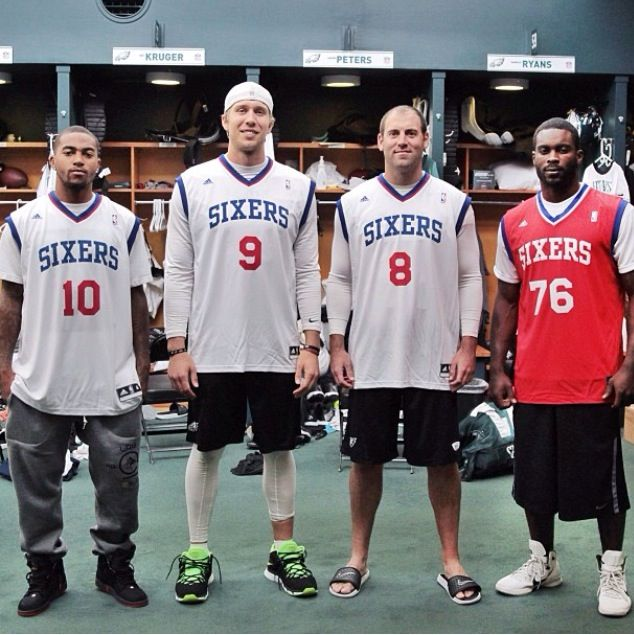 Philadelphia Eagles Ready For The Sixers Game!