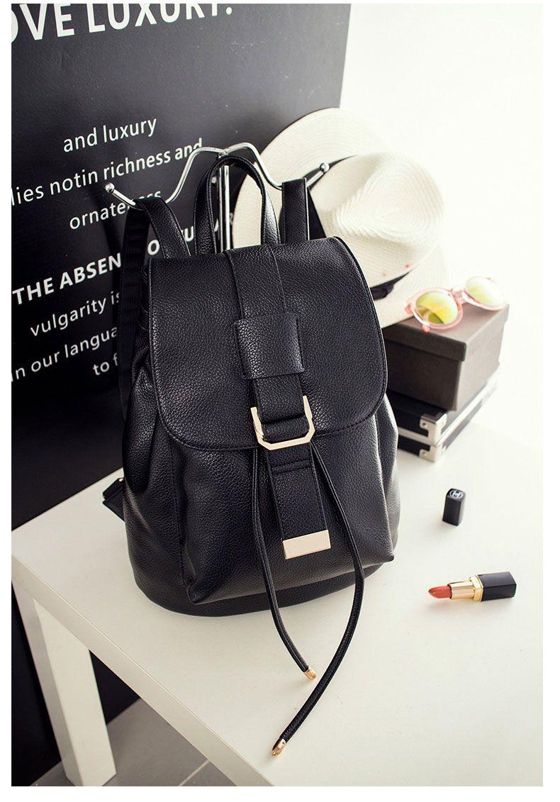 cf43ea15bb79 Women Backpack Female PU Leather FA01  bag  backpack  backtoschool   leatherwork  black  leather