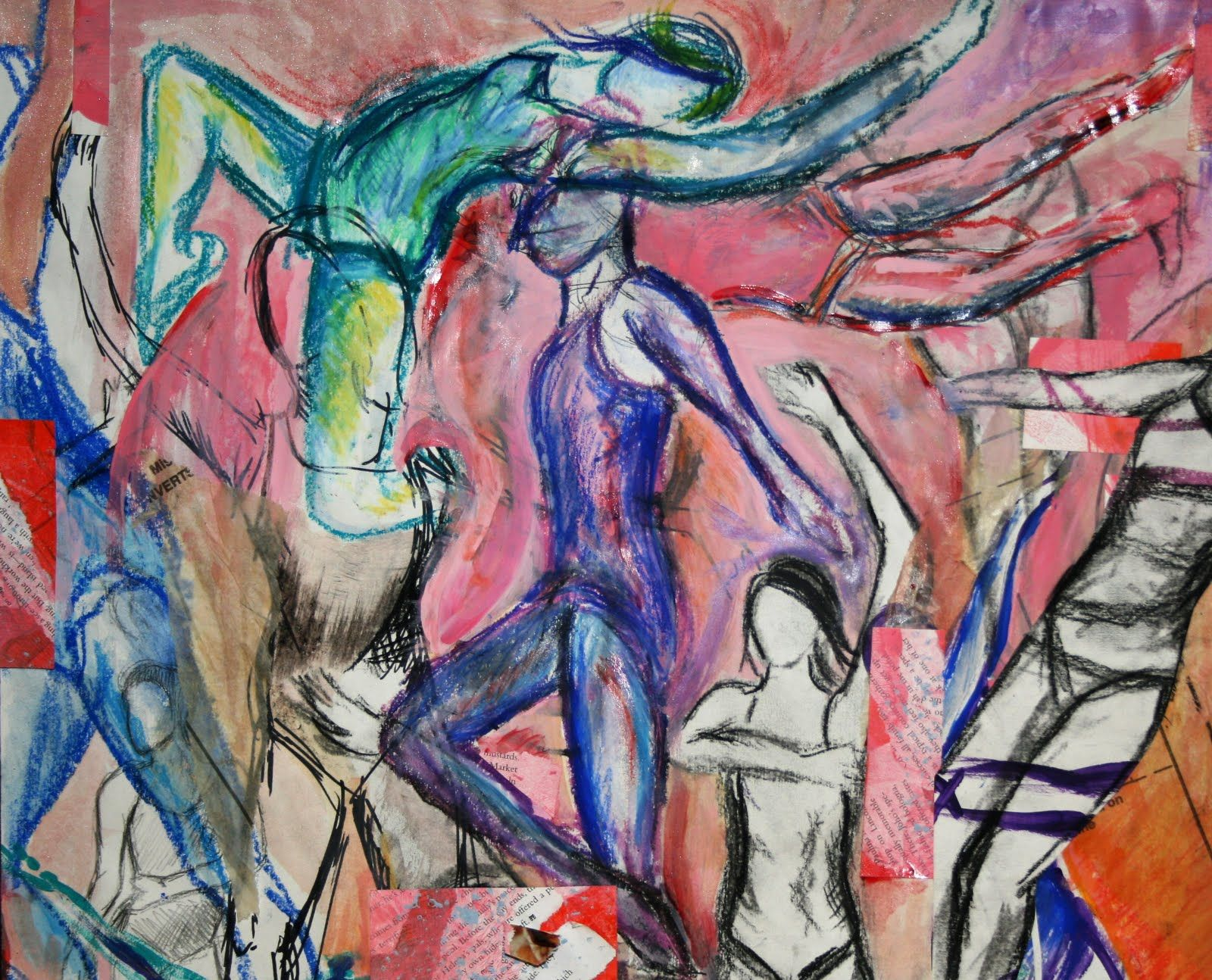Gesture Drawings Deconstructed Reconstructed For Ap High School Students