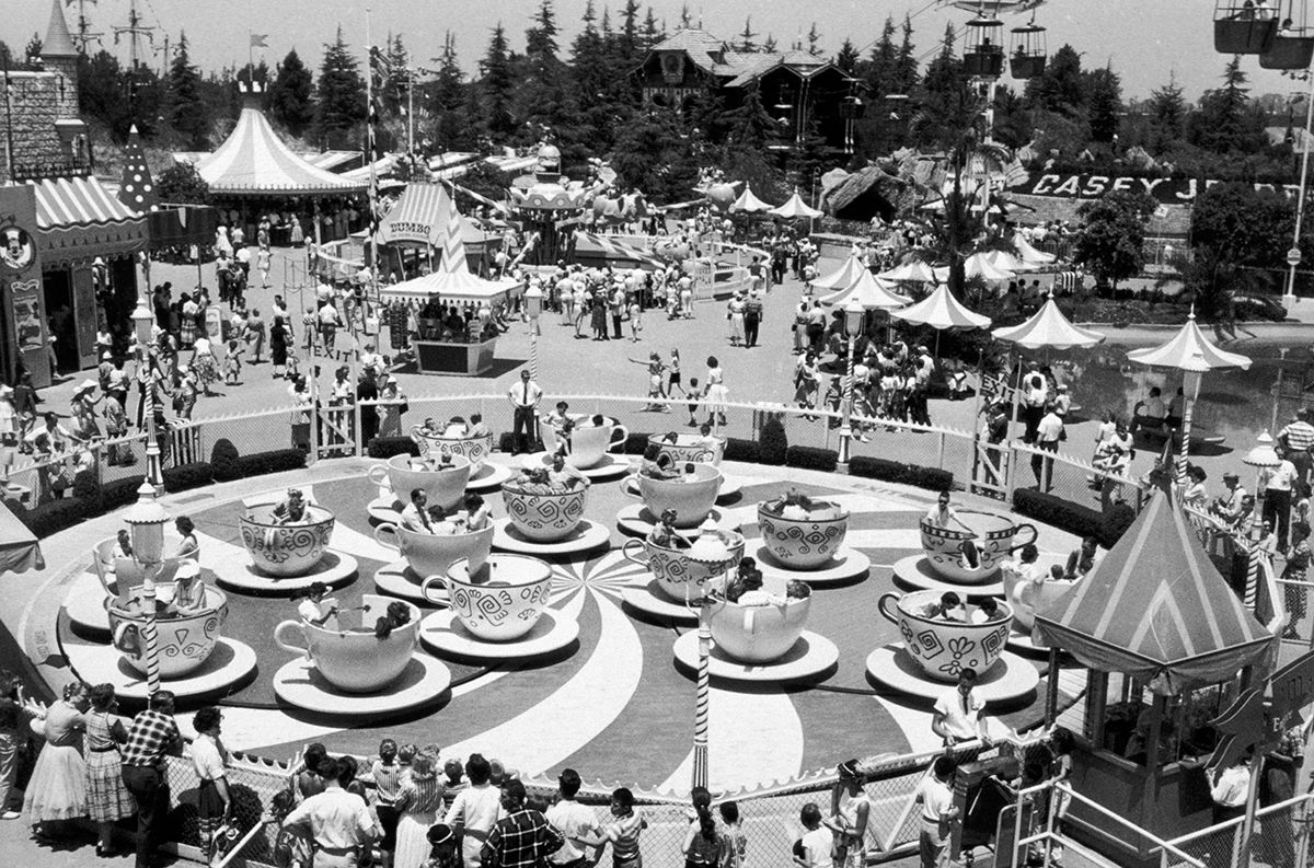 On the opening day of Disneyland on July 17, you could have taken a ride on the Mad Hatter's Teacups!