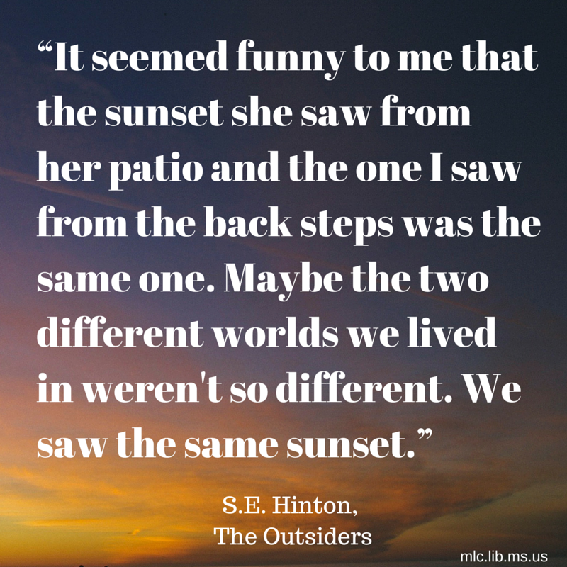 We Are Celebrating S E Hintons Birthday Today Our Quote Comes