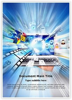 Digital World Word Document Template Is One Of The Best Word