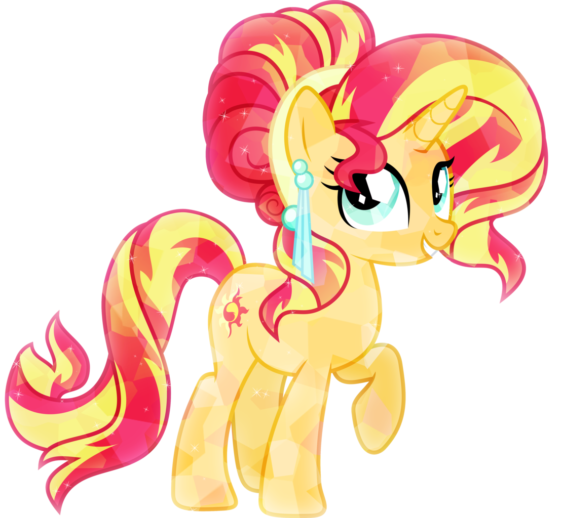 1118089 Artist Xebck Crystallized Crystal Pony Safe Solo Sunset Shimmer Vector My Little Pony Poster My Little Pony Drawing My Little Pony Characters
