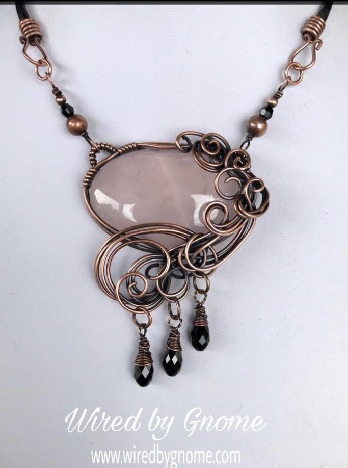 Amazing Rose quartz in copper! | Stunning Copper Jewelry | Pinterest ...