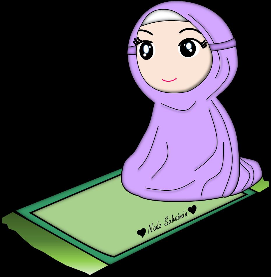 Muslimah Solat Islamic Cartoon Hijab Cartoon Doodles