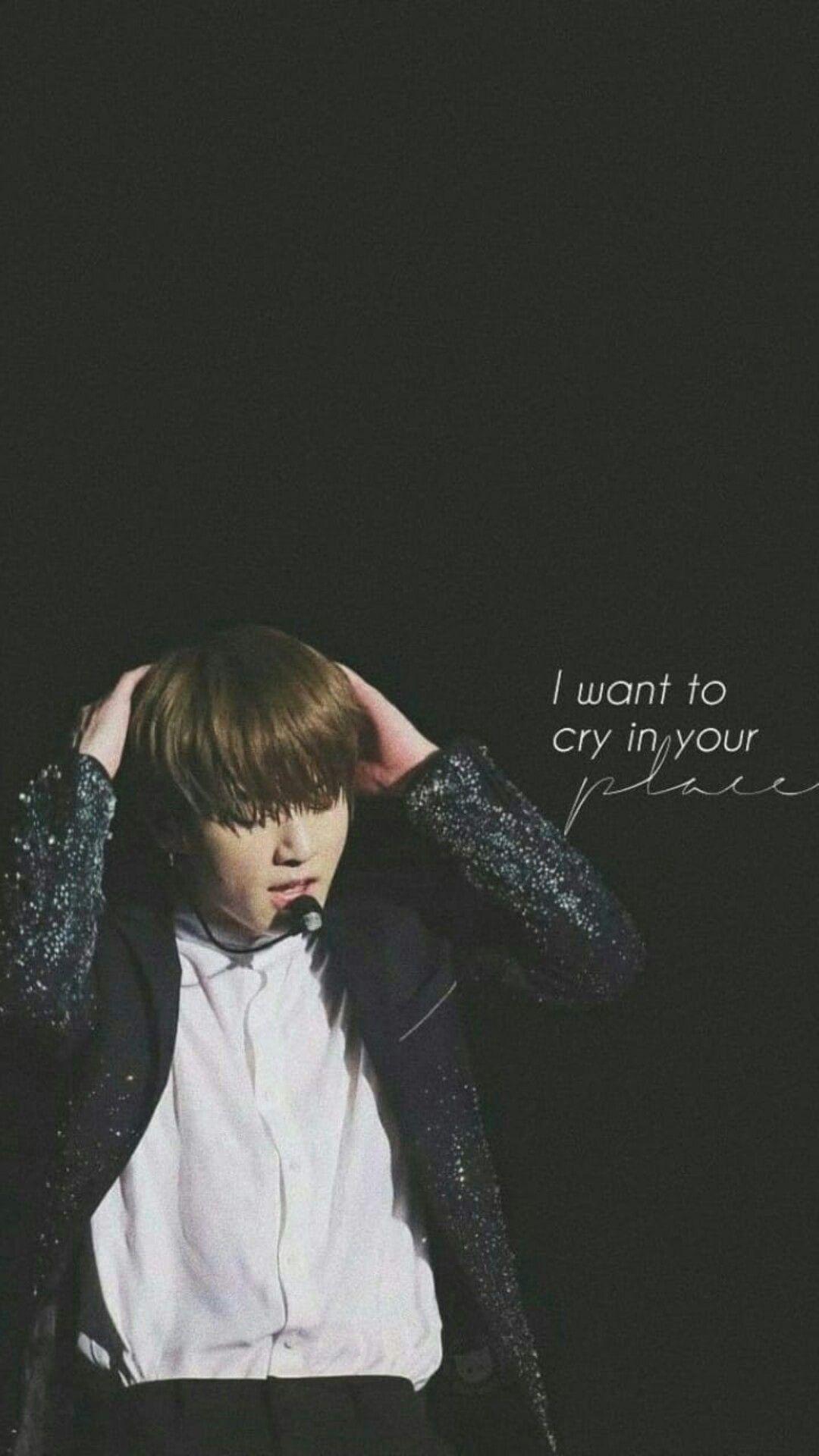 I Want To Cry In Your Place Bts Wallpaper Bts Qoutes Bts Jungkook Bts Lyrics Quotes Bts sad quotes wallpaper
