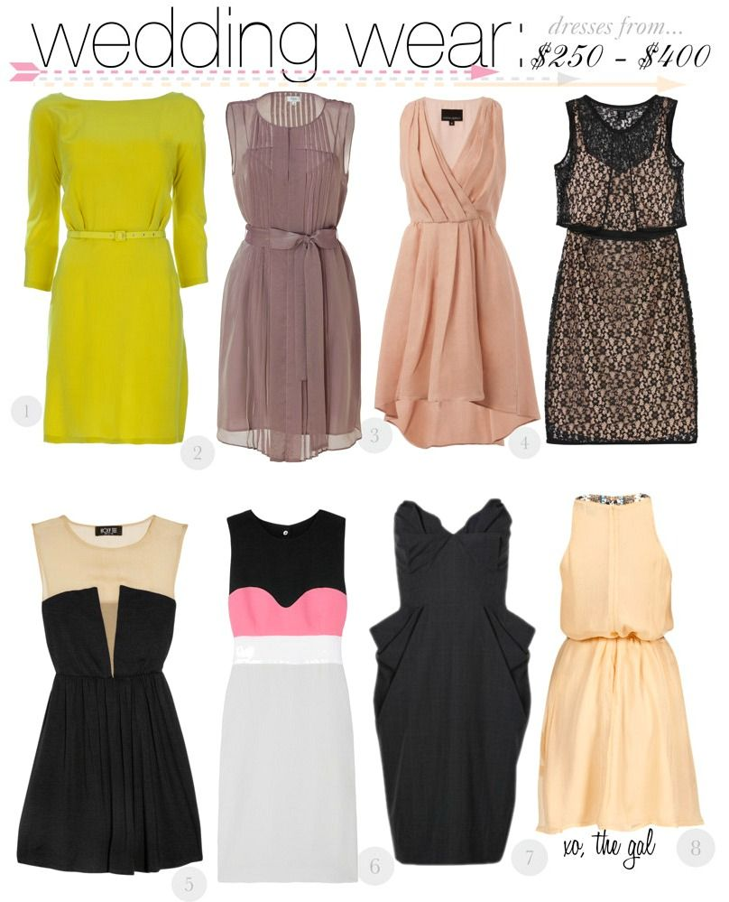 Dresses To Wear A Spring Wedding I Think My Daughter Would Look Fabulous In All Of These Except The Chartruse One And With Pink Black