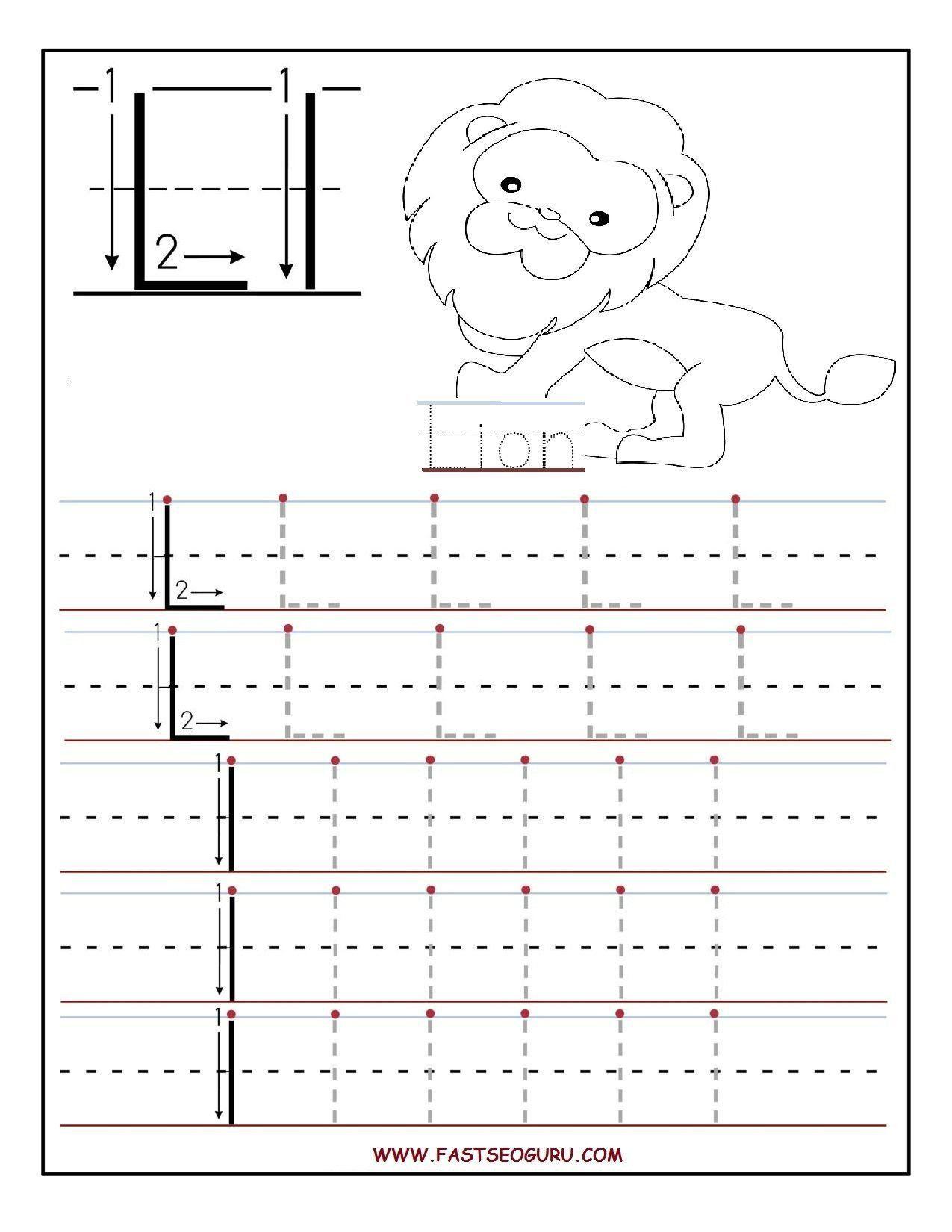 Letter L Worksheets For Preschool Printable Letter L