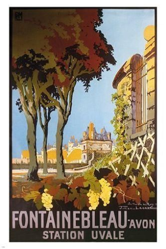 ALSACE BY TRAIN vintage travel poster CHEMINS DE FER DE L/'EST castle 24X36