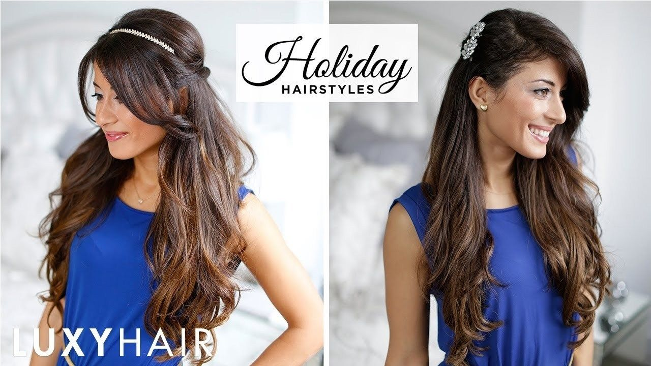 12 New Hairstyle For Frock Look Fresh  Easy party hairstyles