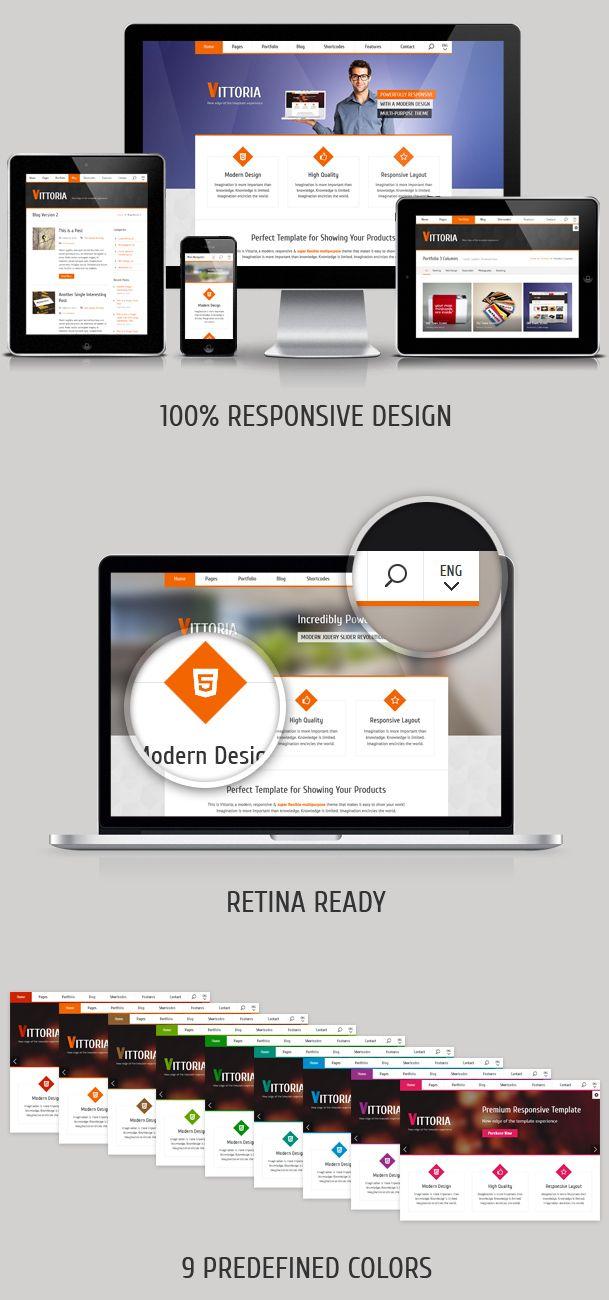 Vittoria – Responsive Retina-Ready Multipurpose Template ...