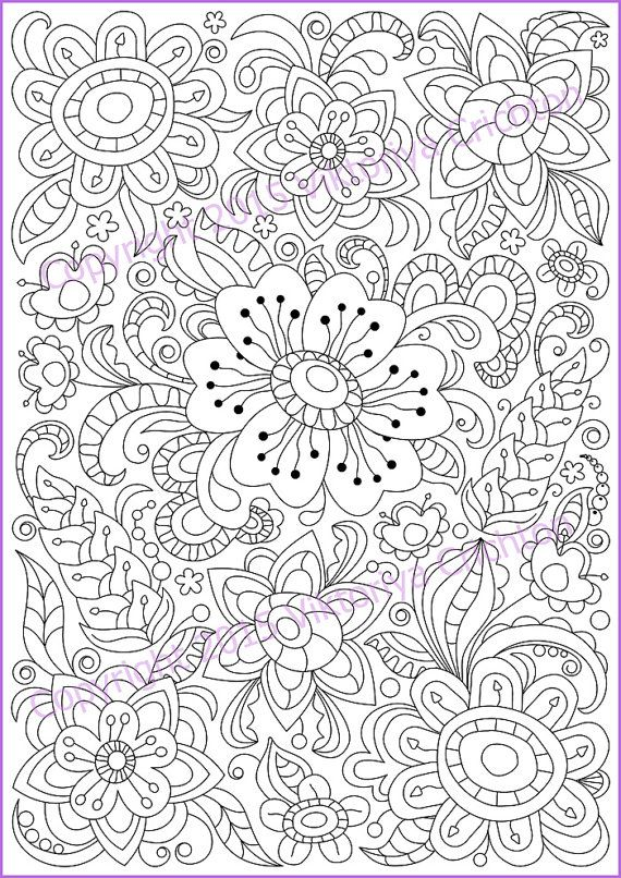 Coloring page PDF adults and children printable by ZentangleHouse ...
