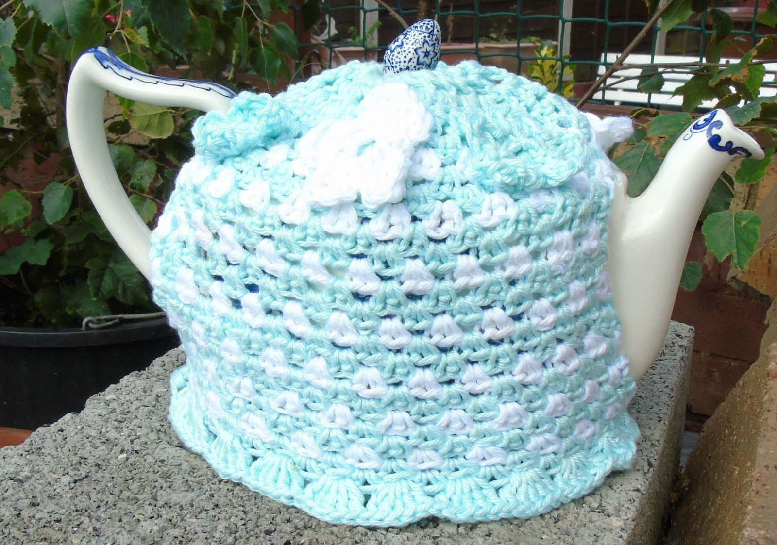 Hand knitted tea cosy cosies crochet Daffodil Bee cottage owl unicorn cat frog