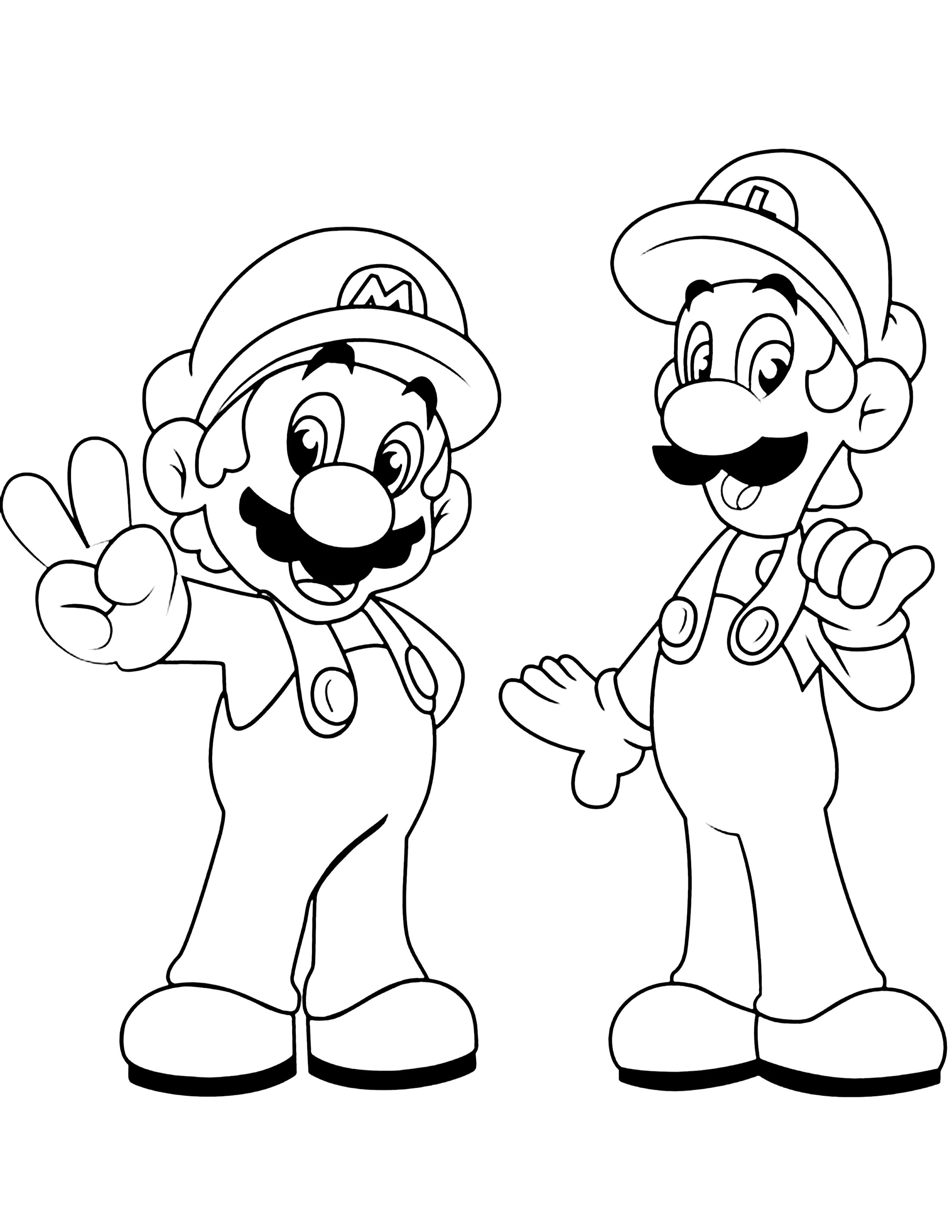 40 Mario Coloring Pages For Kids Super Mario Coloring Pages Mario Coloring Pages Bear Coloring Pages