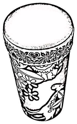 African Drums Coloring Page With Images African Drum African