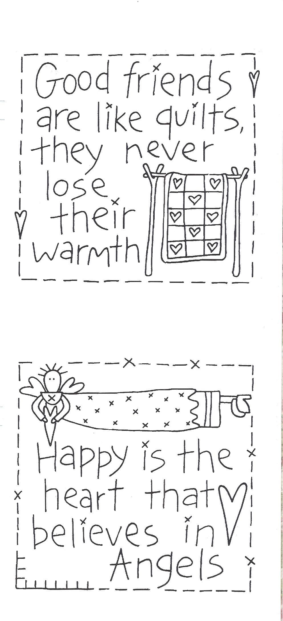 Cute quilt labels | Embroidery | Bordado, Dibujos para bordar, Patrones